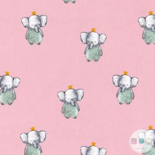Elegant Elephants on Rose Pink - 60
