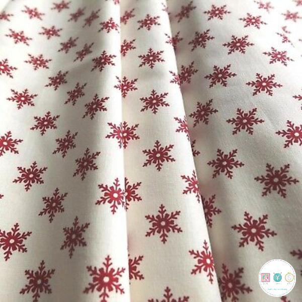 Scandi Snowflakes - Christmas - Cotton Poplin Fabric - by Rose & Hubble - Craft & Dressmaking