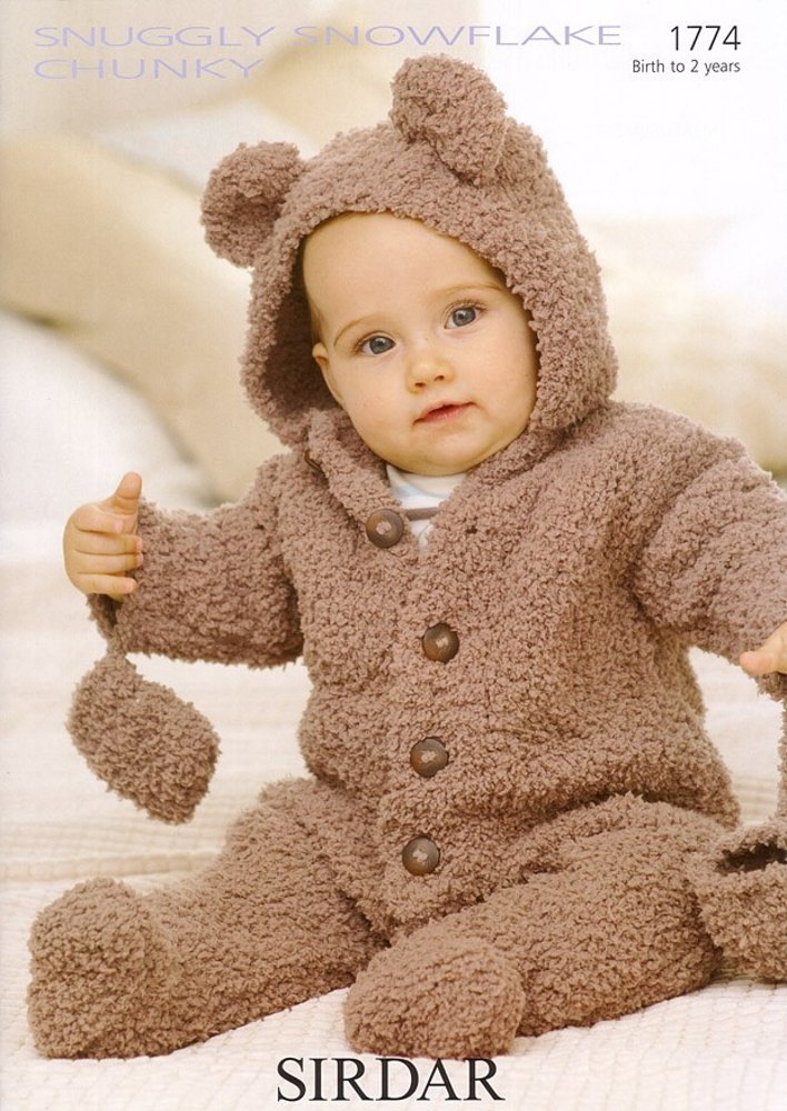 Snowflake Chunky Bear Suit Knitting Pattern by Sirdar - 1774