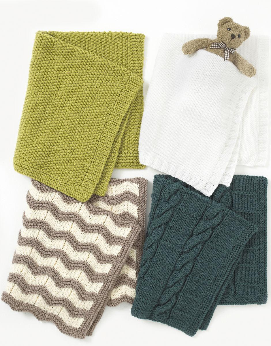 Knitting Pattern - Hayfield 4401 Baby Chunky Blankets Easy Knitting Pattern
