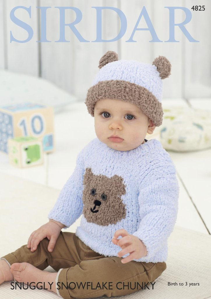 Sirdar Teddy Bear Sweater & Hat Knitting Pattern