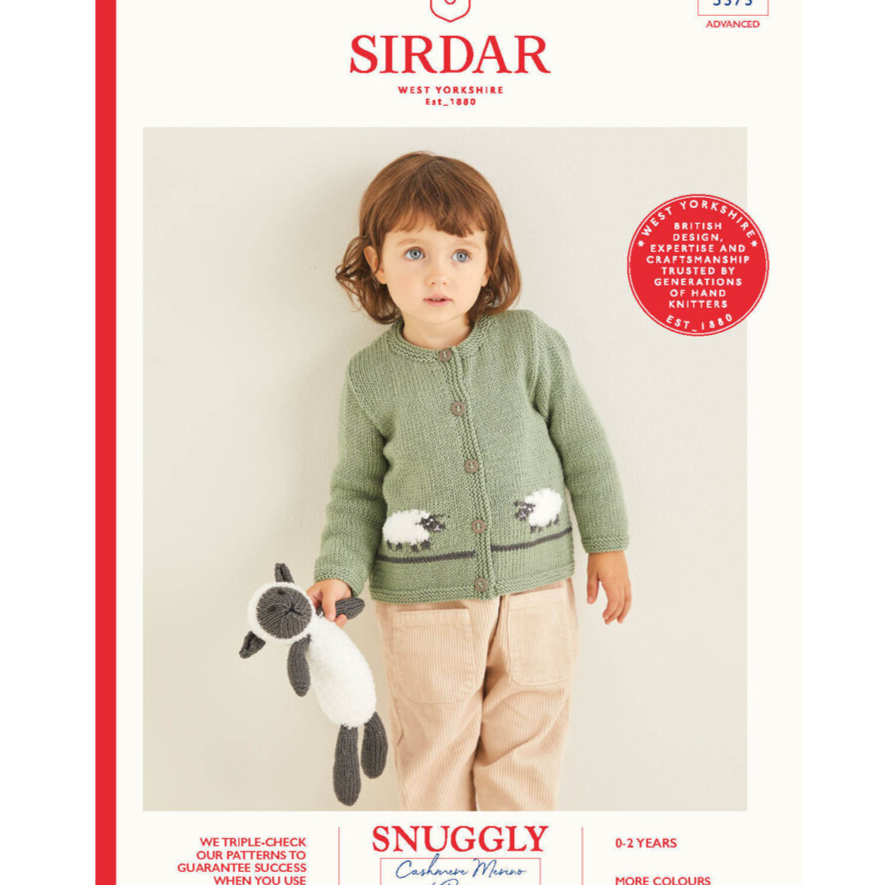 Knitting Pattern - Sirdar 5373 Dk Cardigan With Sheep