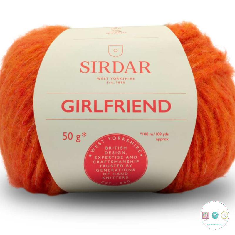 Sirdar Girlfriend 251 Orange  - Chunky Wool - Felted Yarn - Knitting & Crochet