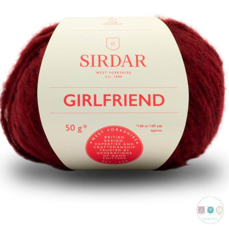 Sirdar Girlfriend 255 Burgundy - Chunky Wool - Felted Yarn - Knitting & Crochet