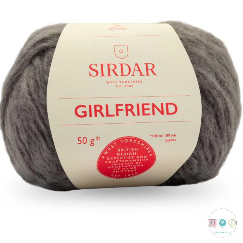 Sirdar Girlfriend 257 Grey - Chunky Wool - Felted Yarn - Knitting & Crochet