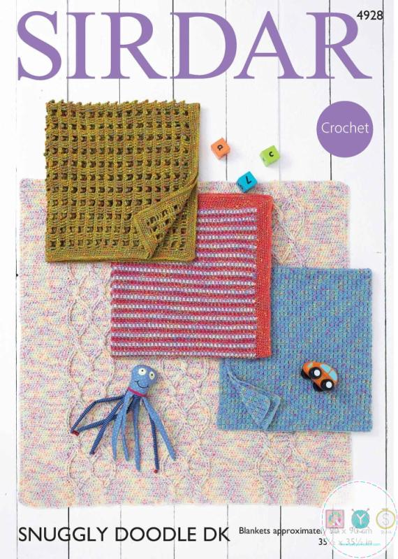 Baby Blanket Crochet Pattern - Sirdar Snuggly Doodle 4298