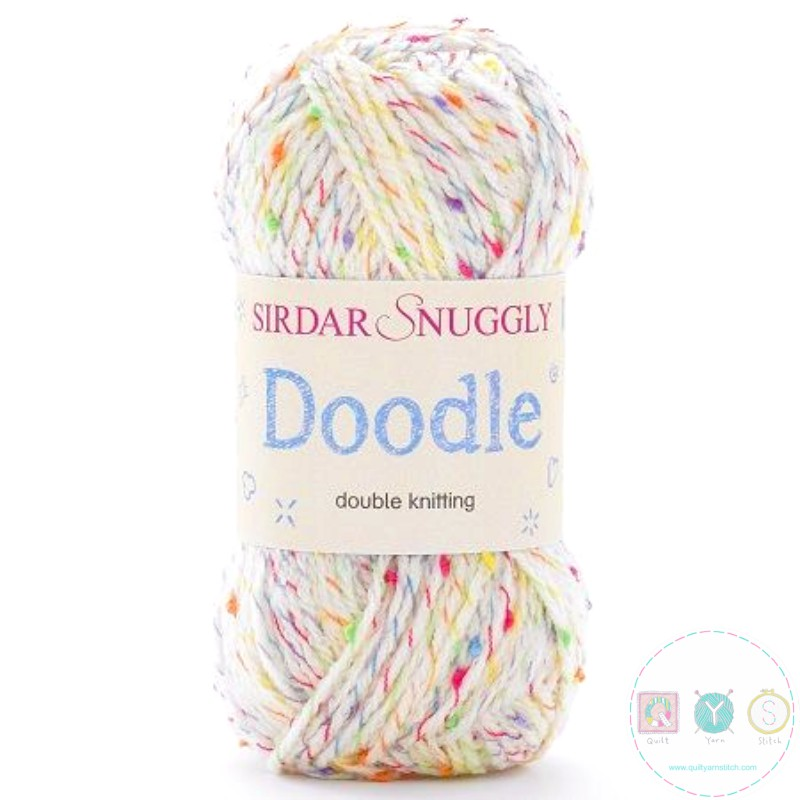 Sirdar Snuggly Doodle Wool - Sprinkles Cream Yarn 206 - Self Patterning