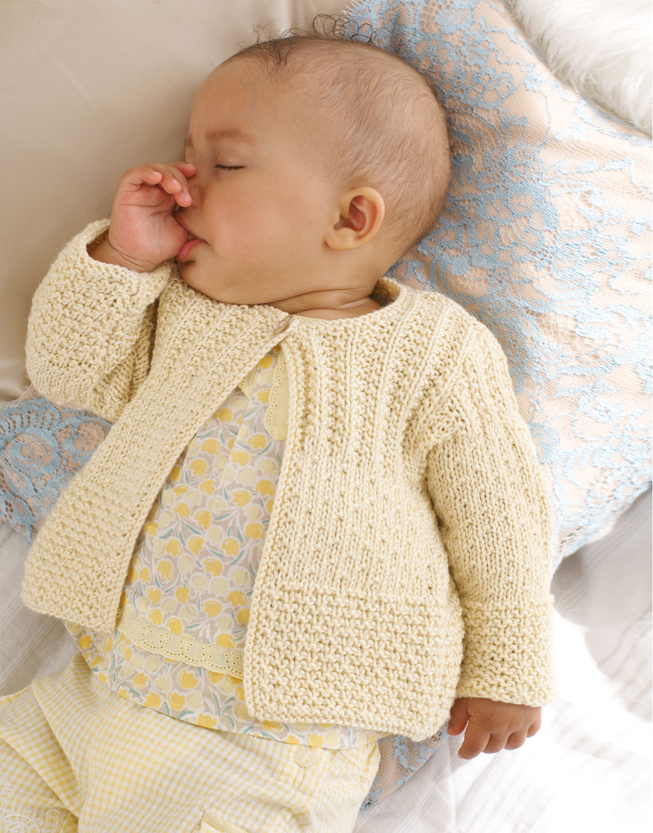 Knitting Pattern by SIrdar- Baby and Child Textured Cardigan DK