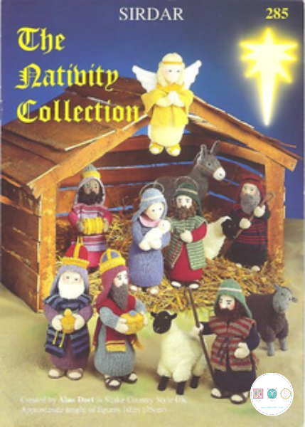 Sirdar 285 - The Nativity Collection Knitting Pattern Booklet - by Alan Dart