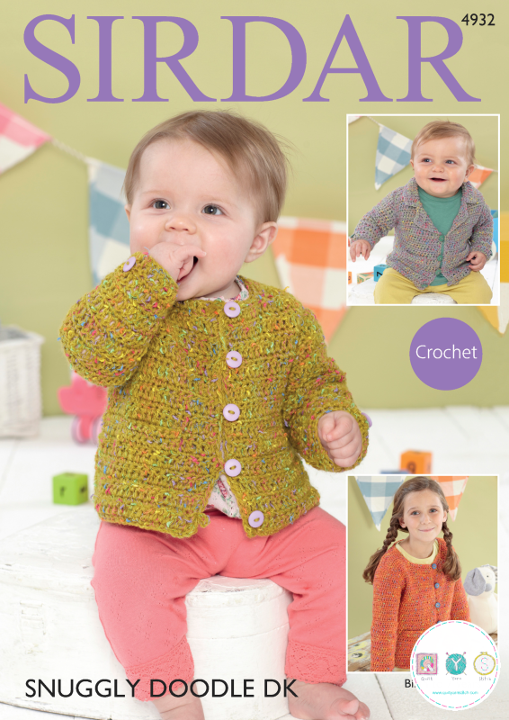 Sirdar 4932 - Collared Blazer & Channel-Style Jackets in Snuggly Doodle DK Pattern - Crochet