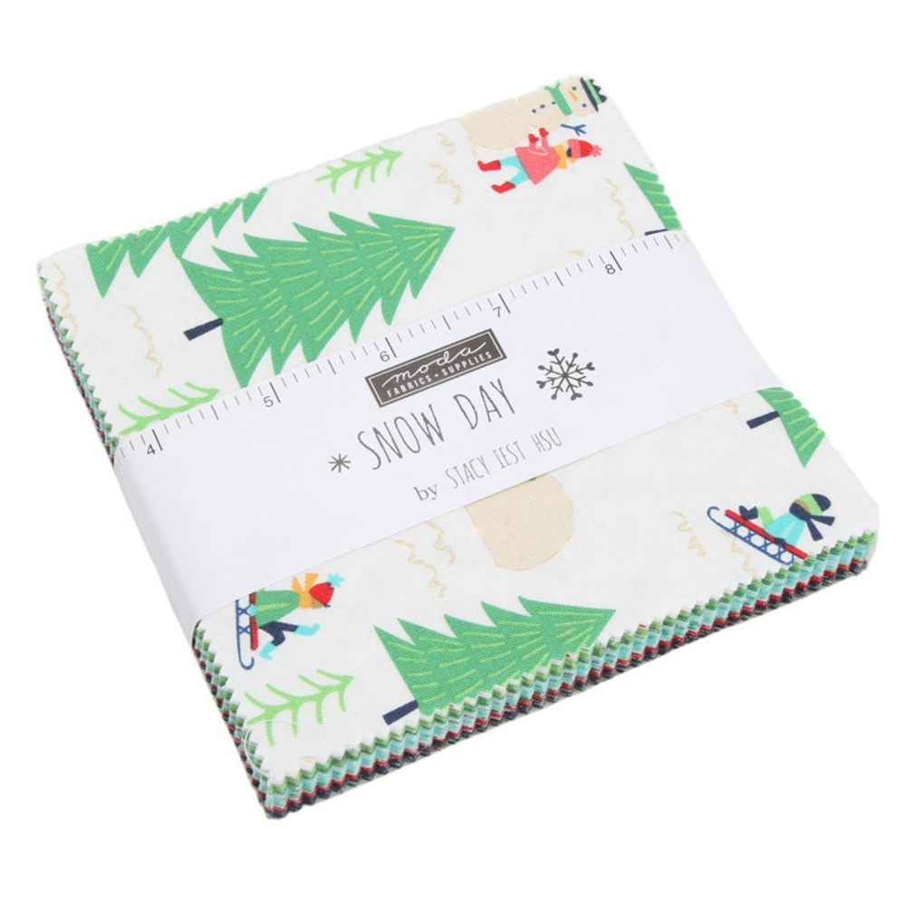 Quilting Fabric - Snow Day by Stacy Iest Hsu for Moda - 5inch Charm Pack