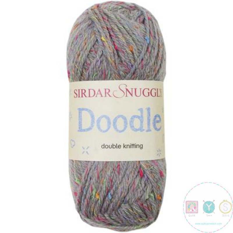 Sirdar Snuggly Doodle Wool - Trunkie Grey Yarn 205 - Self Patterning