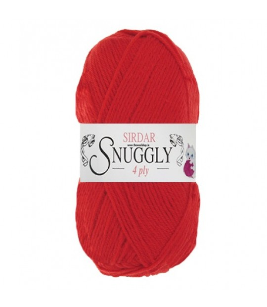 Sirdar Snuggly 4 Ply Wool - Red (472) - 50g - Yarn - Knitting & Crochet