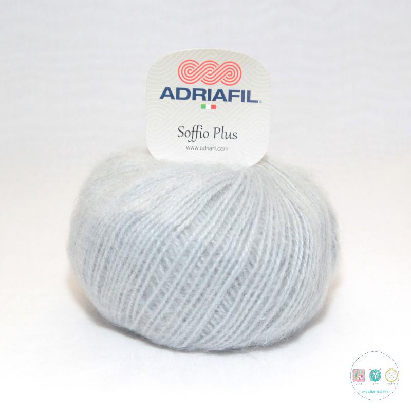Adriafil Italian Yarn - Soffio Plus 50 - Ice Blue - DK - 50g - Wool Blend