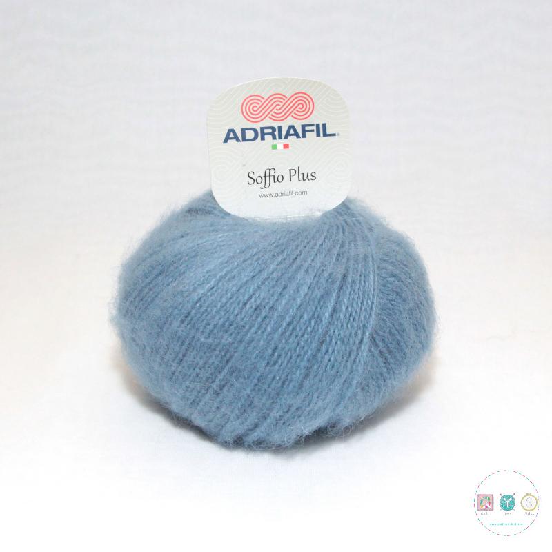 Adriafil Italian Yarn - Soffio Plus 52 - Dusty Denim Blue - DK - 50g - Wool Blend