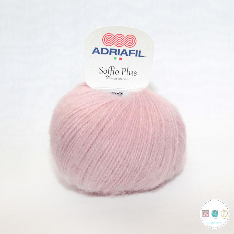 Adriafil Italian Yarn - Soffio Plus 65 - Dusty Pink - DK - 50g - Wool Blend