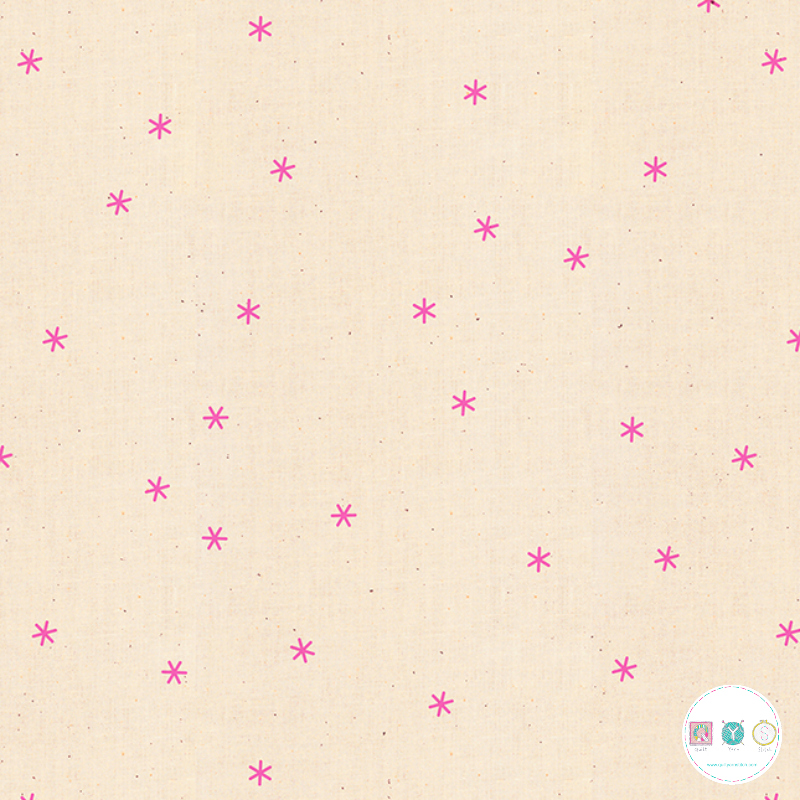 Ruby Star Society - Pop! Zip! - Pink Spark Stars Cotton Fabric - by Rashida Coleman-Hale for Moda Fabrics - Patchwork & Quilting