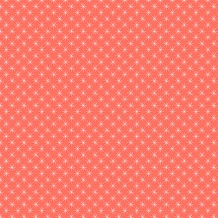 Quilting Fabric - Coral Star Dots from Prickly Pear by Figo Fabrics