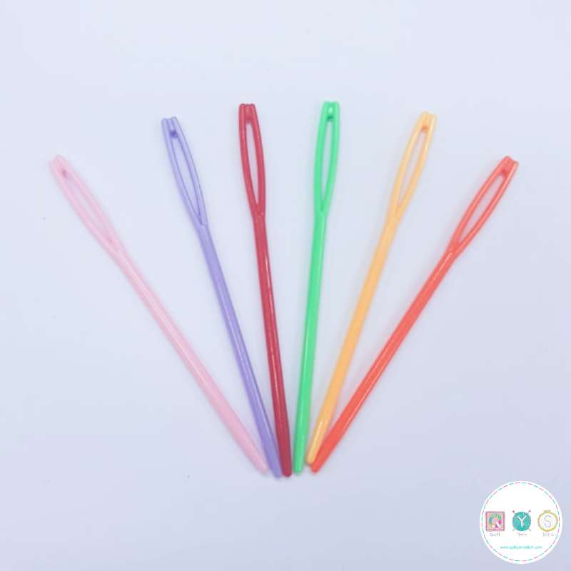Plastic Needles - Assorted Colours - Yarn Needles - Large Eye - Knitting Tools