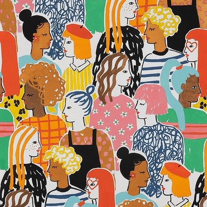 Quilting Fabric - Stronger Together from Nicole's Prints by Alexander Henry Fabrics