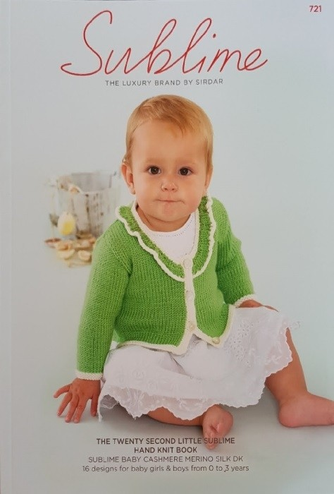 Sublime Twenty Second Little Hand Knit Pattern Book 721
