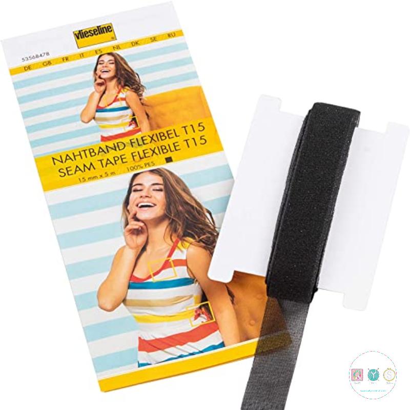 Vlieseline - black - Flexible Seam Tape - T15 - Nahtband - Dressmaking Accessories