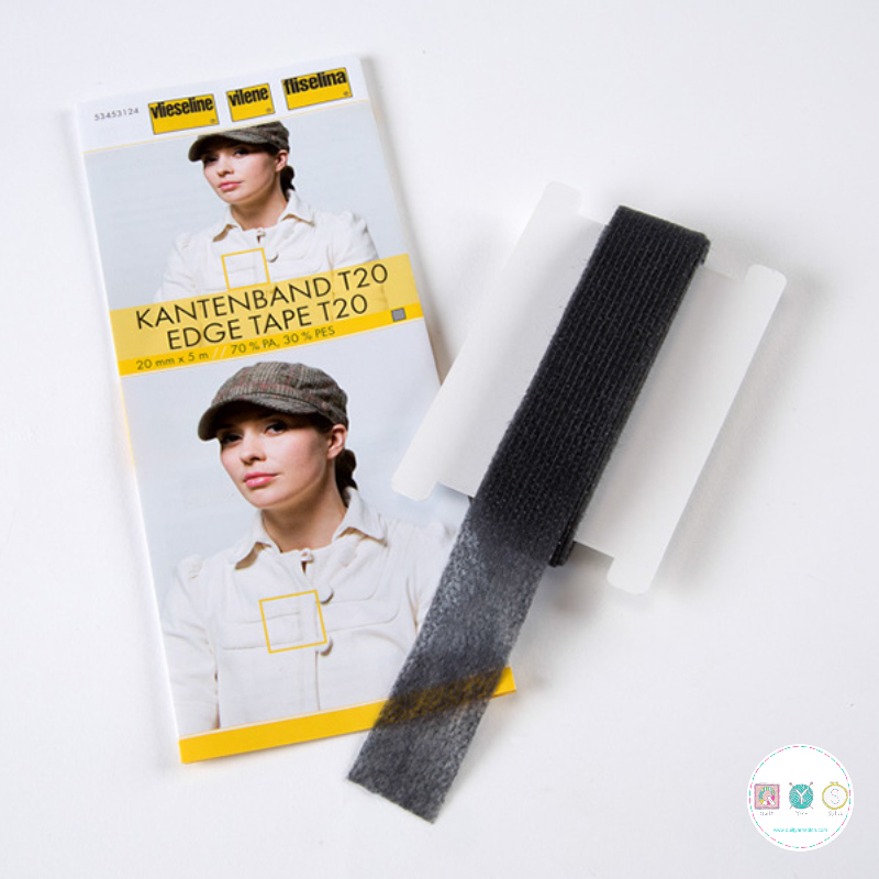 Vlieseline - Dark Grey Kantenband - Edge Tape T20 - Dressmaking Accessories