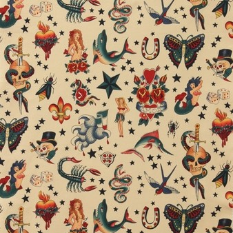 Quilting Fabric - Tattoos from Nicole's Prints for Alexander Henry Fabrics
