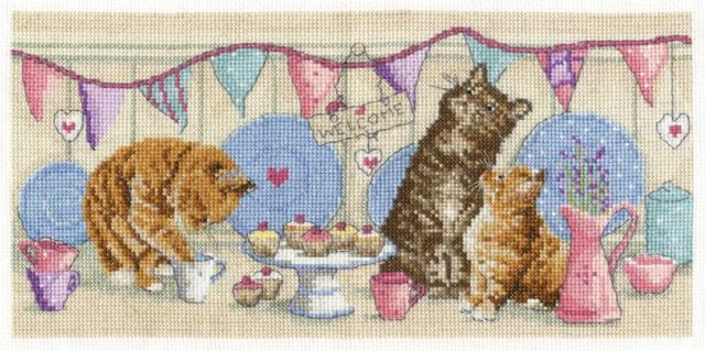 Counted Cross Stitch Tea Time