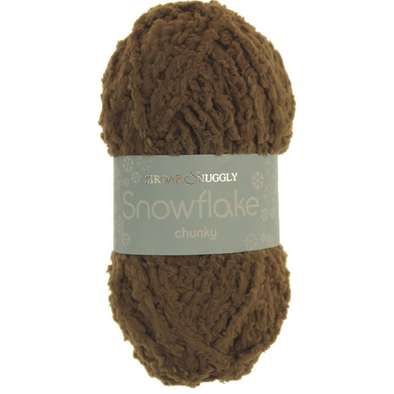 Snowflake Chunky Wool by Sirdar - Teddy Brown Yarn 634