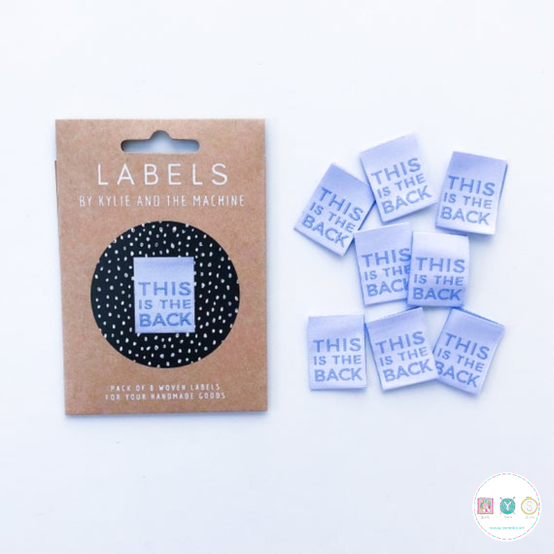Gift Idea - Kylie and the Machine Woven Labels - This is the Back
