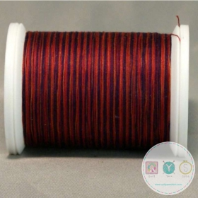 YLI Machine Quilting Cotton Thread - Madras 244-50-03V - Variegated Deep Red Thread
