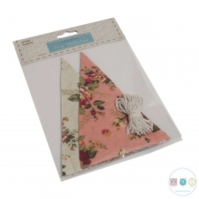 Sew Your Own Bunting - Easy Sew Kit - Pink & Cream Floral - Gift Ideas