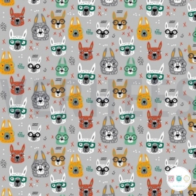 Llamas with Glasses - Cotton Jersey - 200gr/m2 - Childrens Textiles - Dressmaking Fabric