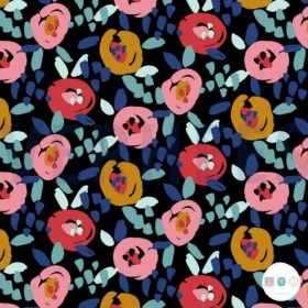 Floral - French Terry - 245gm/m2 - Dressmaking Fabric