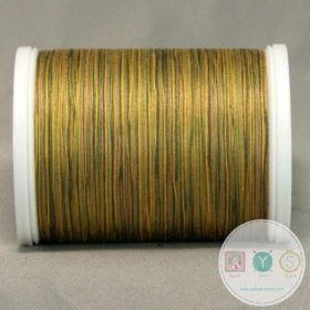 YLI Machine Quilting Cotton Thread - Green to Tan 244-50-08V - Variegated Green Gold Thread