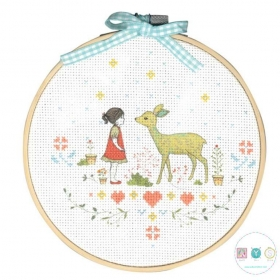 Nature Girl - DMC Cross Stitch Kit - Pattern & Thread Included