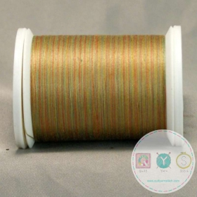 YLI Machine Quilting Cotton - Dusk Thread 17V - Variegated Green Gold Mix