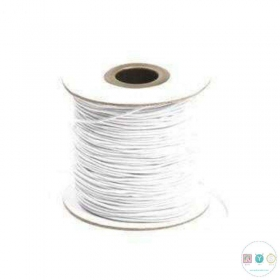 1mm - White Elastic - Crafts - Jewellery Making - Dressmaking - Haberdashery