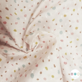 White Confetti Party - Dobby - 100% Cotton - 80gr/m2 - Designed for You by Poppy - Dressmaking Fabric