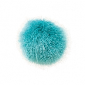 Hat Bobble - Fake Fur Pompom 10cm - Petrol Blue