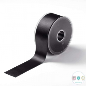 Black Satin Ribbon - 38mm - Trimming - Embellishments - Haberdashery