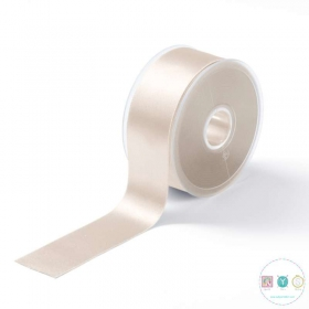 Cream Satin Ribbon - 38mm - Trimming - Embellishments - Haberdashery
