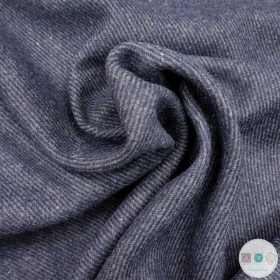 Navy Blue Stripe Wool Blend  - Coat Fabric - Dressmaking Textiles