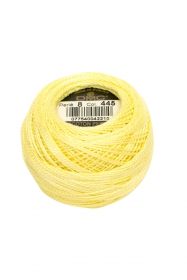 Yellow Perle 8 Embroidery Thread DMC8-445 - Pearl Cotton