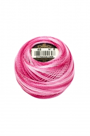 Variegated Pink Perle 8 Embroidery Thread DMC8-48 - Colour Mix Pearl Cotton