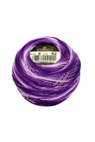 Variegated  Purple Perle 8 Embroidery Thread DMC8-52 - Colour Mix Pearl Cotton