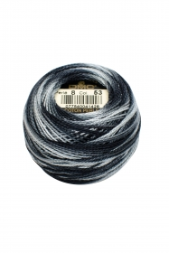 Variegated Grey Perle 8 Embroidery Thread DMC8-53 - Colour Mix Pearl Cotton