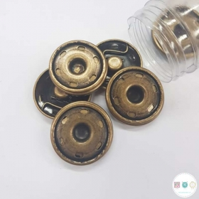 30mm Large Bronze Snaps - Sew On - Flat - Snap Fasteners - Buttons - Haberdashery