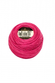 Pink Perle 8 Embroidery Thread DMC8-601